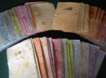 Paper Alice Papermaking and Crafts-Handmade Paper Samples